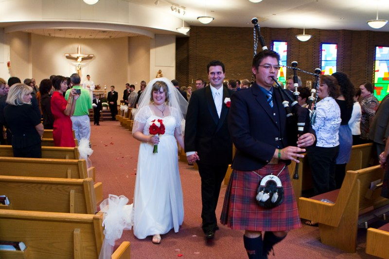 Ben Peterson - Piping for Wedding - Wearing Tartand of Windsor Police Pipe Band